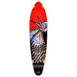 Kicktail Longboard Deck - The Bird Red