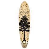 Kicktail Longboard Deck - In the Pines : Natural
