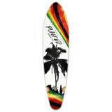 Kicktail Longboard Deck - Palm City Rasta