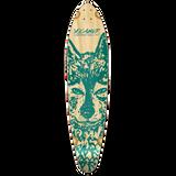 Kicktail Longboard Deck - Spirit Animal WOLF