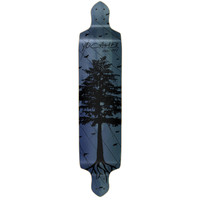 YOCAHER Drop Down Longboard Deck - In the Pines : Blue