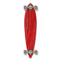 Pintail Blank Longboard Complete - Stained Red