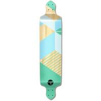 Drop Down Longboard Deck -  Geometric Series - Green