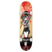 "Yocaher Complete Skateboard 7.75""  - Samurai Series - Girl Samurai Red Dragon"