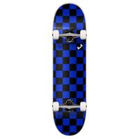 """Graphic Complete 7.75"""" Skateboard - Checker Blue"""