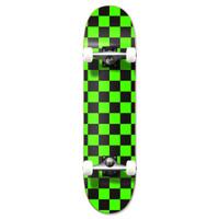 """Graphic Complete 7.75"""" Skateboard - Checker Green"""