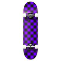 """Graphic Complete 7.75"""" Skateboard - Checker Purple"""