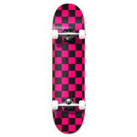 """Graphic Complete 7.75"""" Skateboard - Checker Pink"""