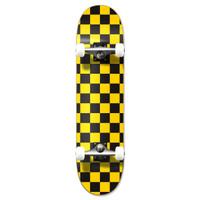 "Graphic Complete 7.75"" Skateboard - Checker Yellow"