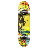 """Yocaher Graphic Tropical Day Complete 7.75"""" Skateboard"""