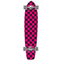 Slimkick Longboard Complete - Checker Pink