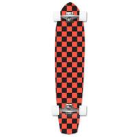 Slimkick Longboard Complete - Checker Orange