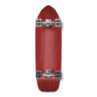 Old School Blank Longboard Complete - Stained Red