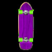 Old School Blank Longboard Complete - Stained Purple