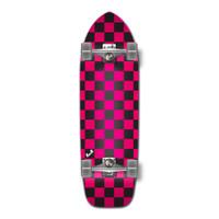Old School Longboard Complete - Checker Pink