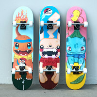 "Yocaher Complete Skateboard 7.75"" - PIKA Series - PIKA"