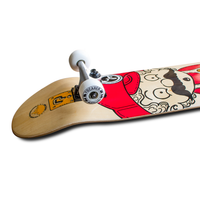Graphic Complete Skateboard - Retro Series - Stache