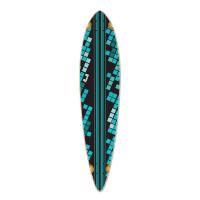 Pintail Black Digital Wave Longboard Deck
