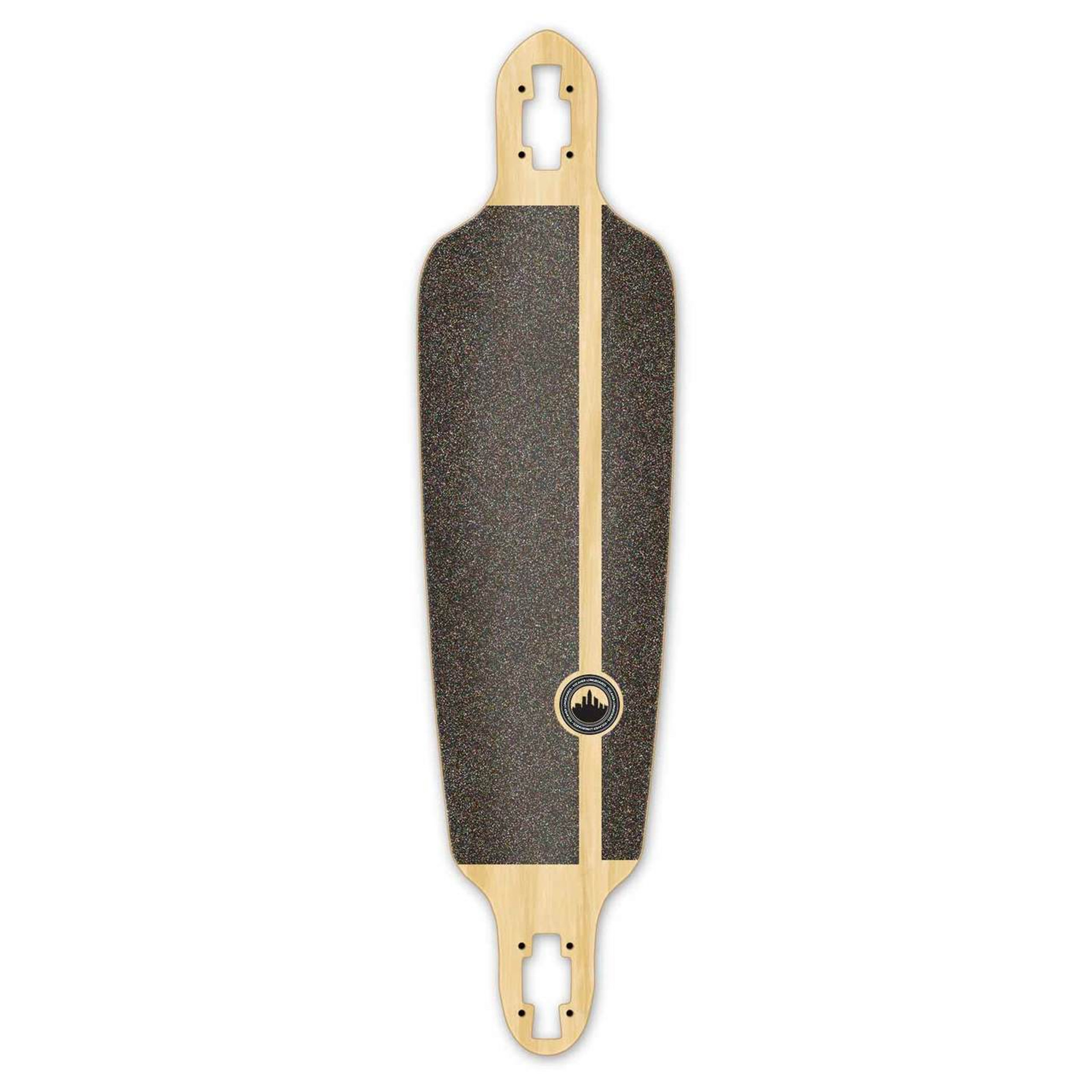 Yocaher Drop Through Blank Longboard Deck Stained Black