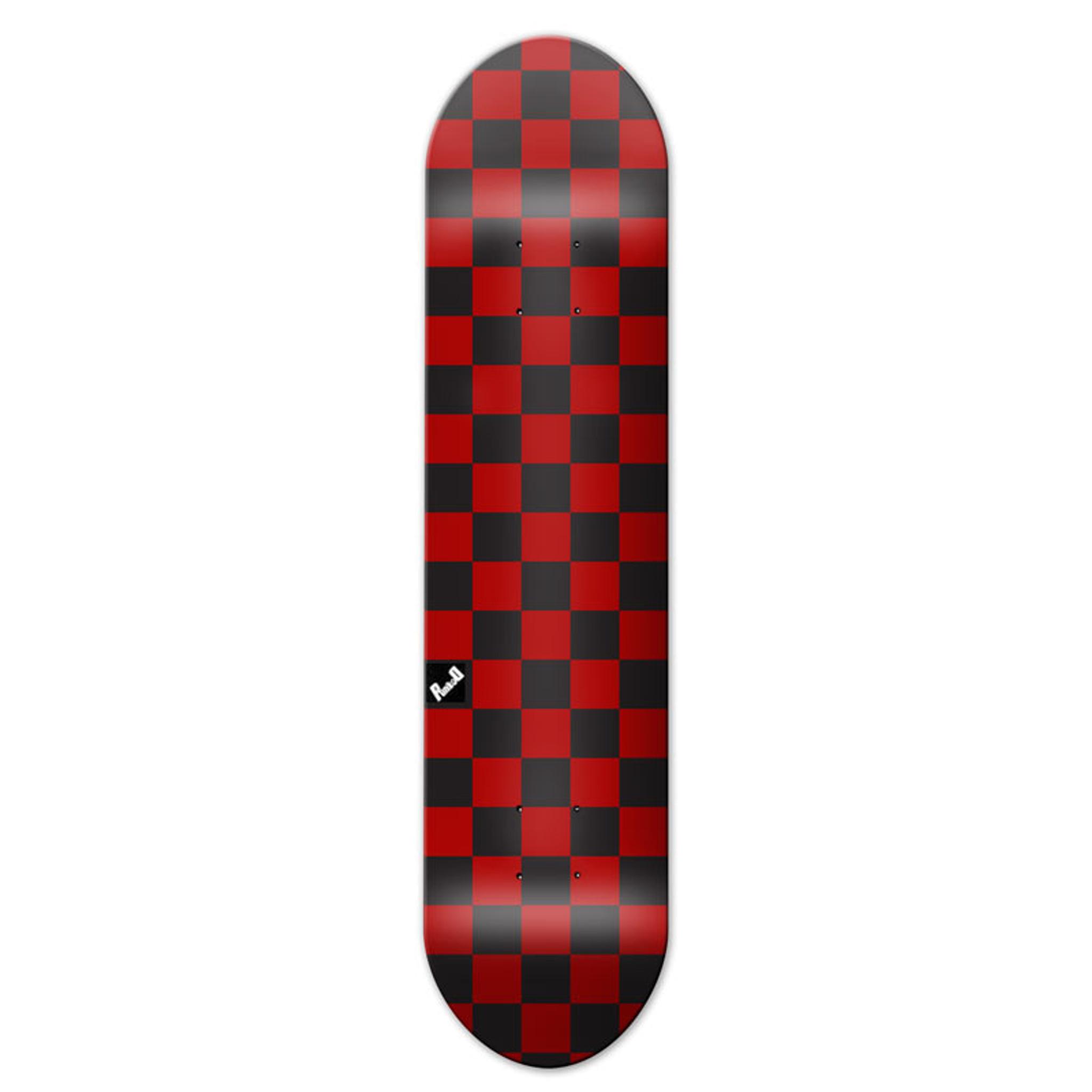 Moose Plaid Purple Skateboard Komplett Skateboard 7.5