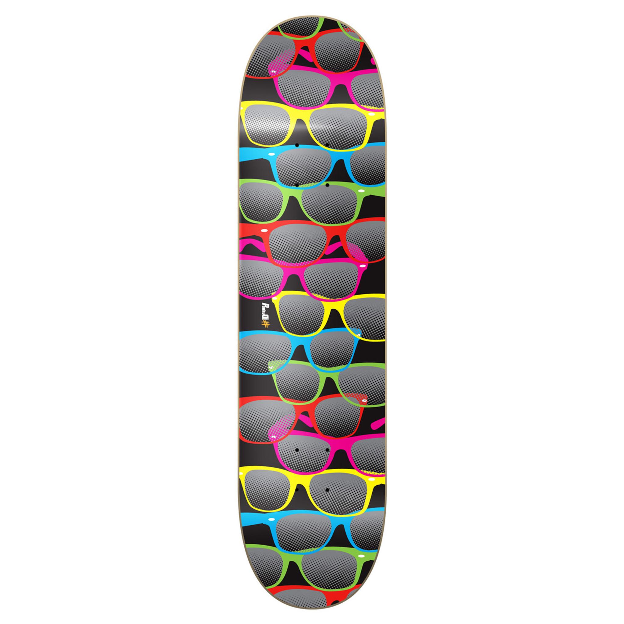 Bandana Black 7.5 inch Yocaher Graphic Skateboard Deck