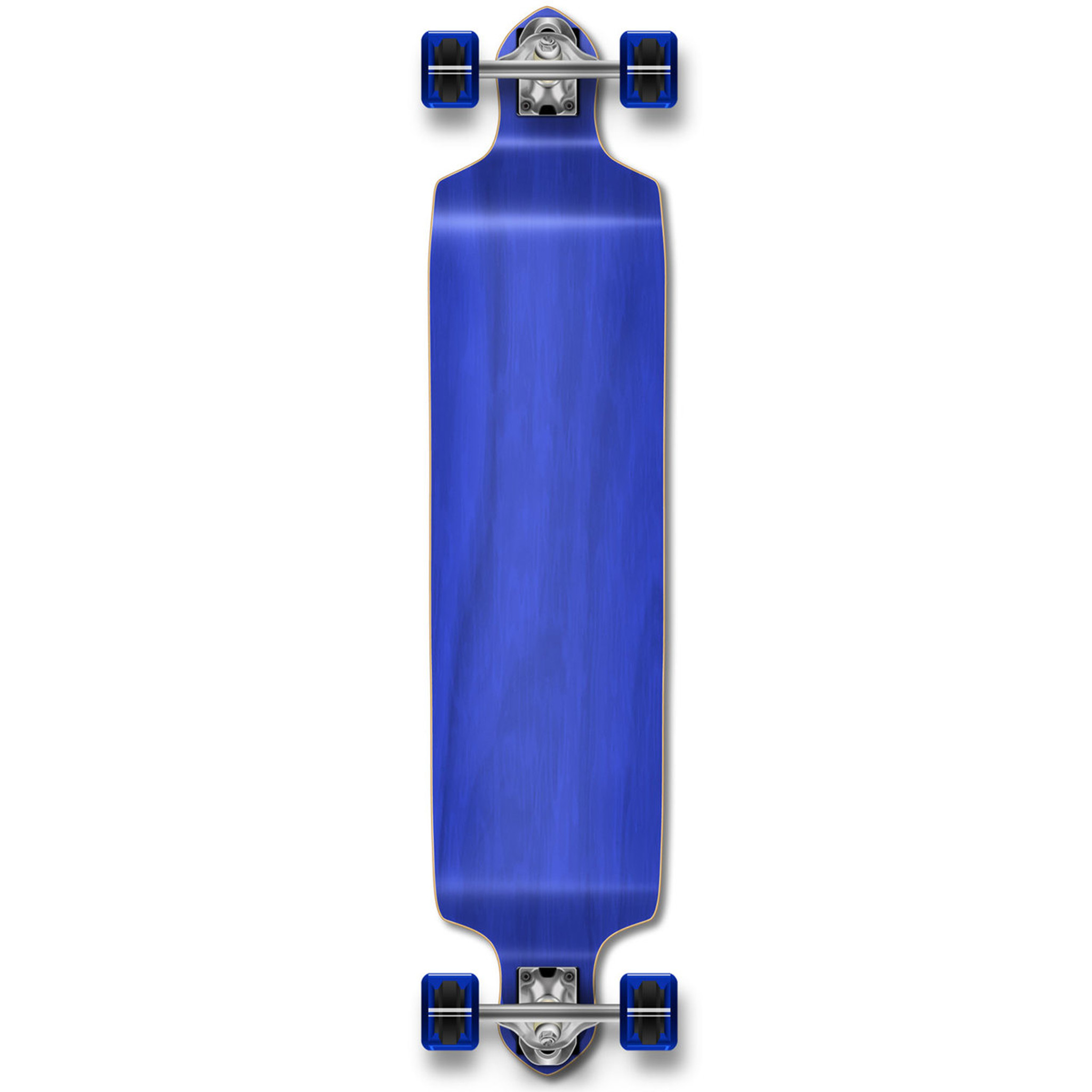 Stained Green Yocaher Drop Through Blank Longboard Complete