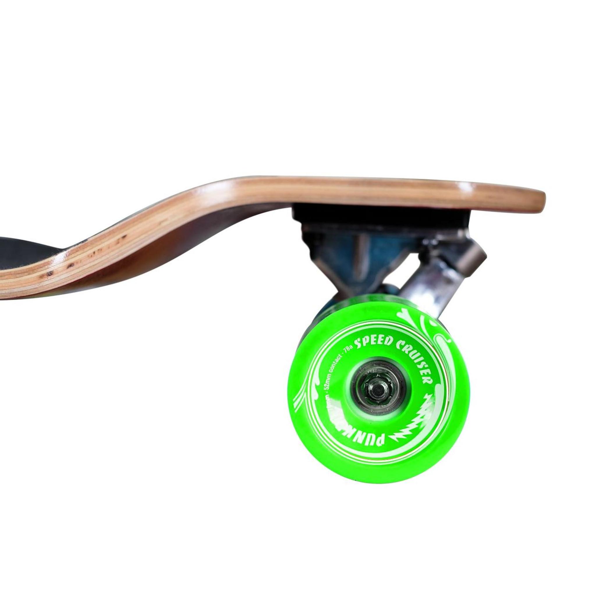 Yocaher Blank//Checker Complete Drop Down Skateboards Longboard Black Widow 80A Grip Tape Aluminum Truck ABEC7 Bearing 70mm Skateboard Wheels