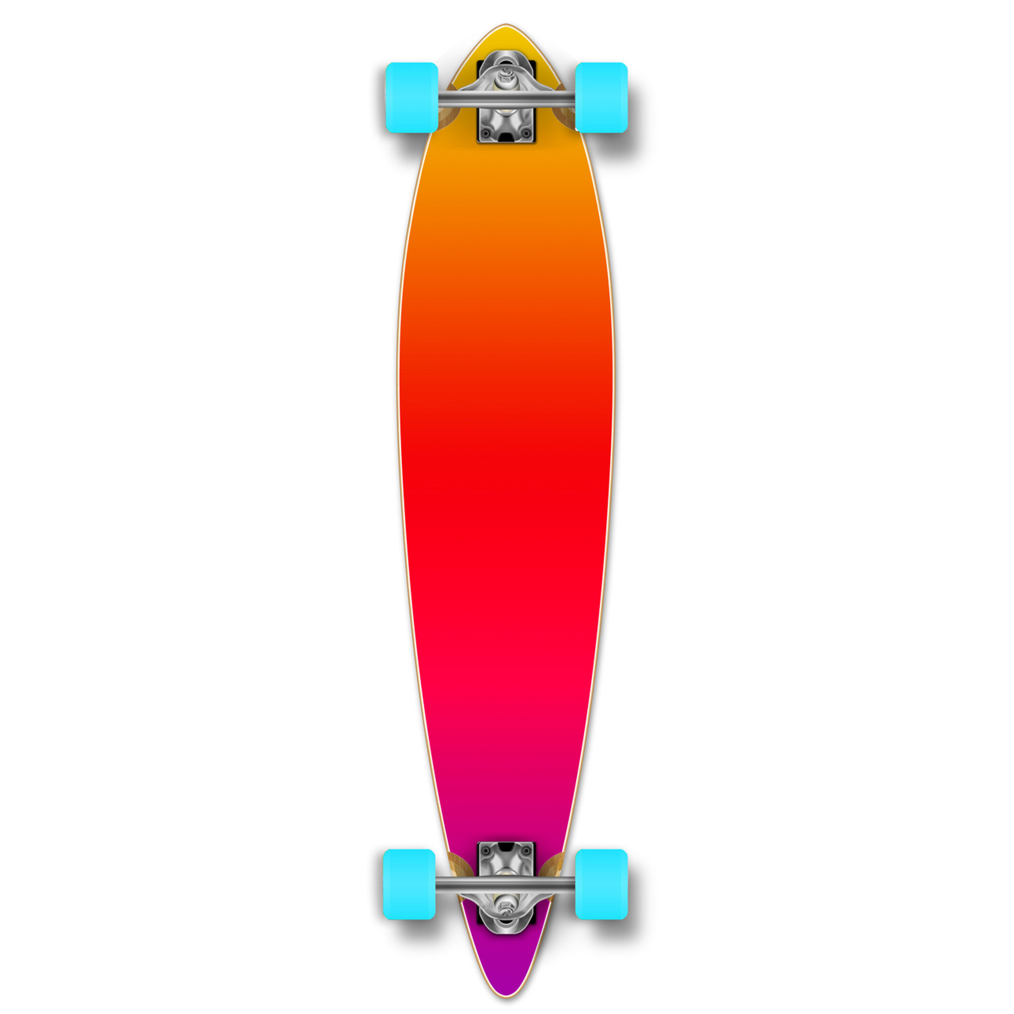 Yocaher Drop Through Longboard Complete Gradient Pink