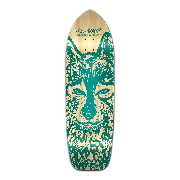 Old School Longboard Deck - Spirit Animal Series - Wolf