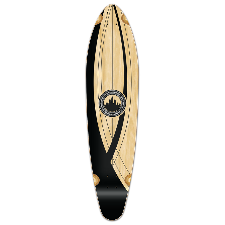 Kicktail Longboard Deck - Crest Onyx