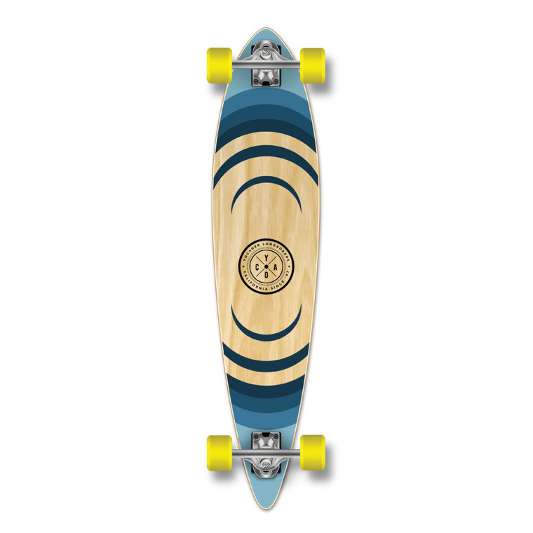 YOCAHER Pintail Longboard Complete - Earth Series - Ripple