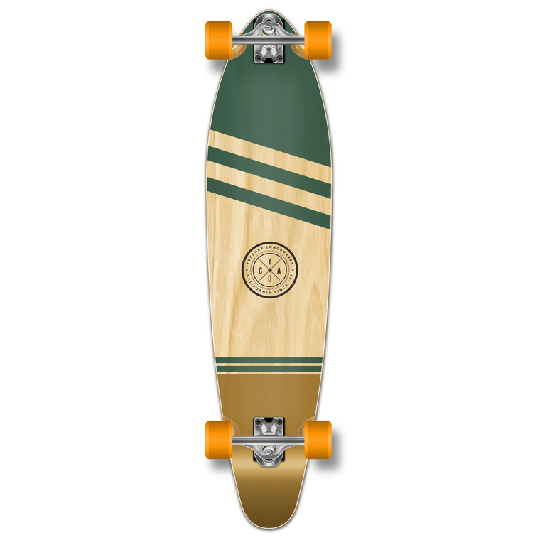 YOCAHER Kicktail Longboard Complete - Earth Series - Wind