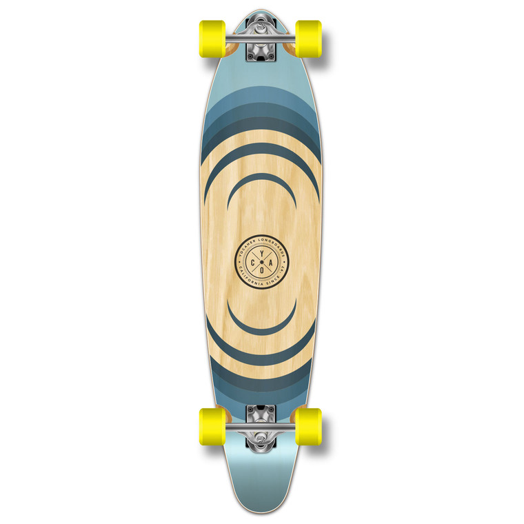 YOCAHER Kicktail Longboard Complete - Earth Series - Ripple