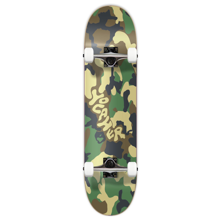 """Yocaher Graphic Complete 7.75"""" Skateboard - Camo Series - Green"""