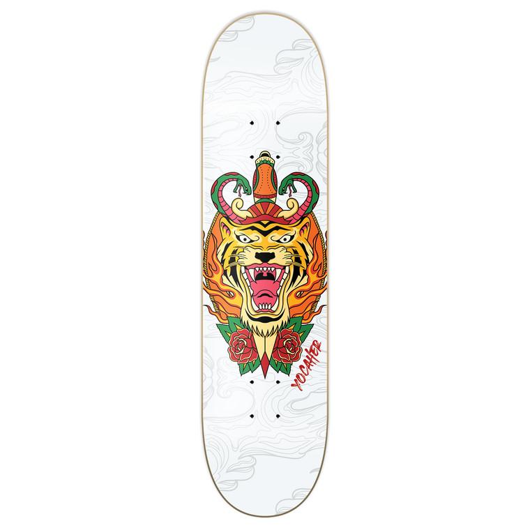 Yocaher Graphic Skateboard Deck  - Flaming Tiger