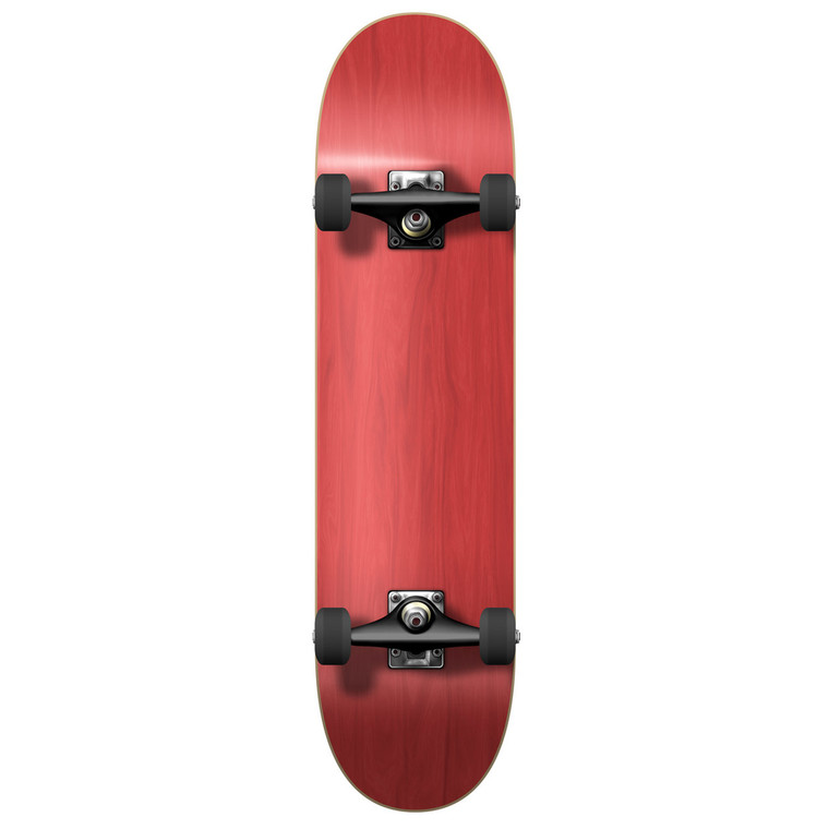 """Yocaher Blank Complete 7.75"""" Skateboard - Stained Red"""