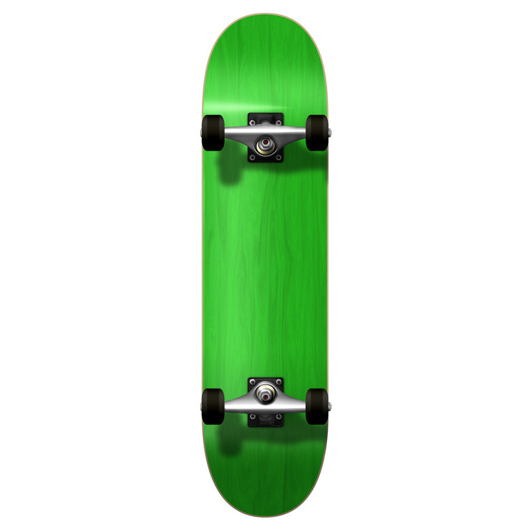 """Yocaher Blank Complete 7.75"""" Skateboard - Stained Green"""