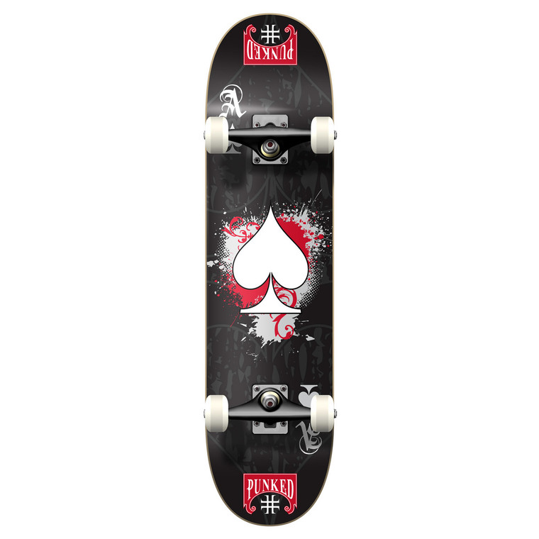 """Yocaher Graphic Complete 7.75"""" Skateboard - Ace Black"""