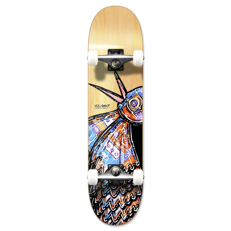 """Yocaher Graphic Complete 7.75"""" Skateboard - The Bird Natural"""