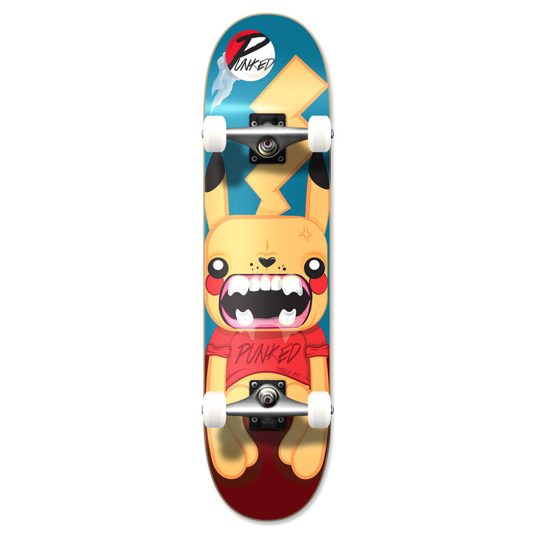 """Yocaher Graphic Complete 7.75"""" Skateboard - PIKA Series - PIKA"""