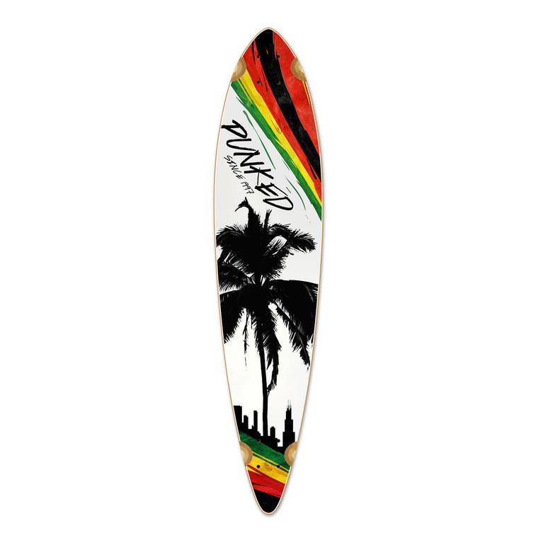Pintail Longboard Deck - Palm City Rasta