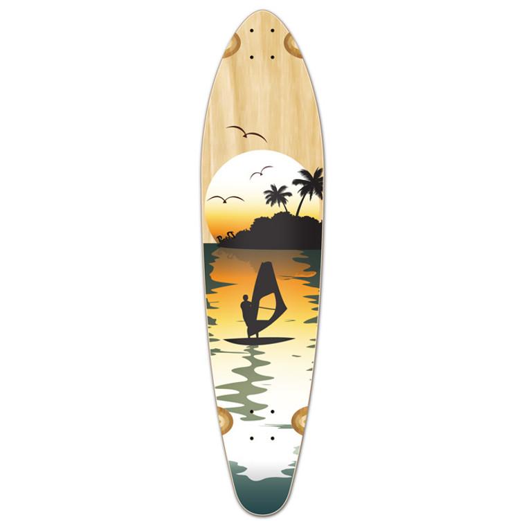 Kicktail Surfer Natural Longboard Deck