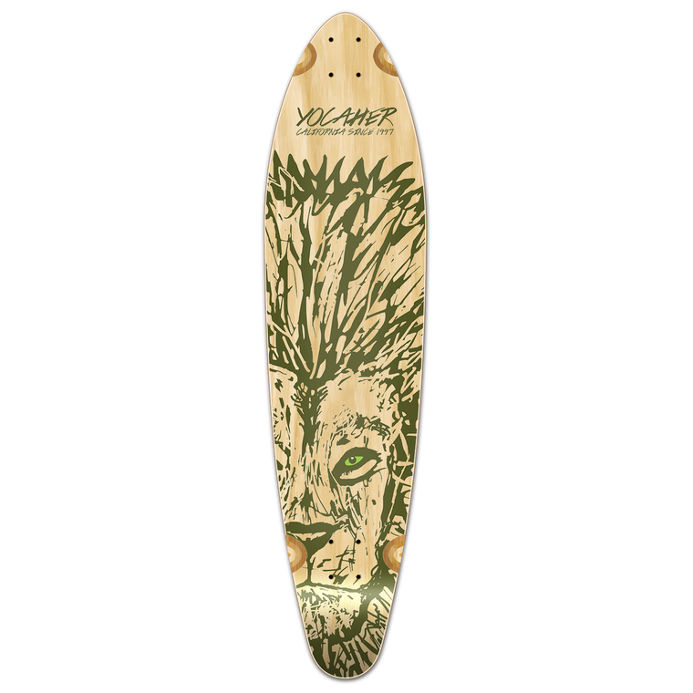 Kicktail Longboard Deck - Spirit Animal LION