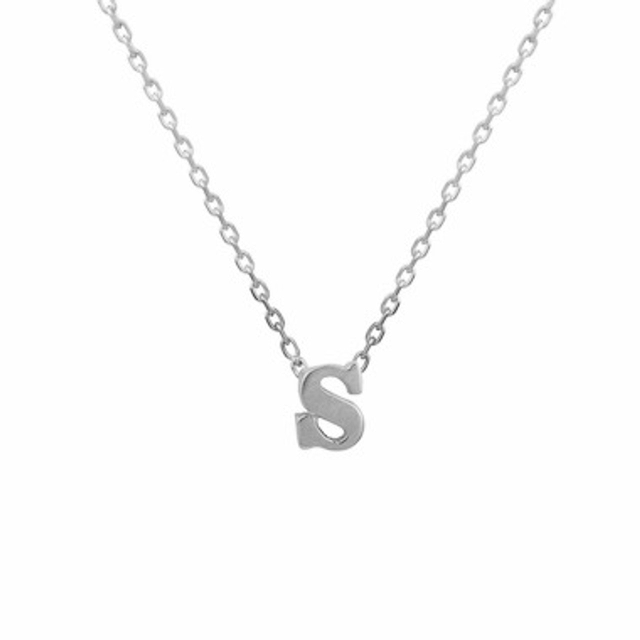 gold necklace Delicate letter necklace Small Letter necklace Tiny necklace 925 sterling silver Minimalist gold necklace small letter