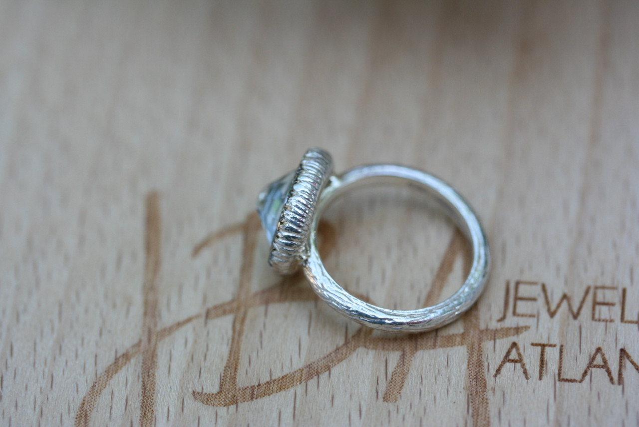 Sterling Silver Diamond Cocktail Statement Ring