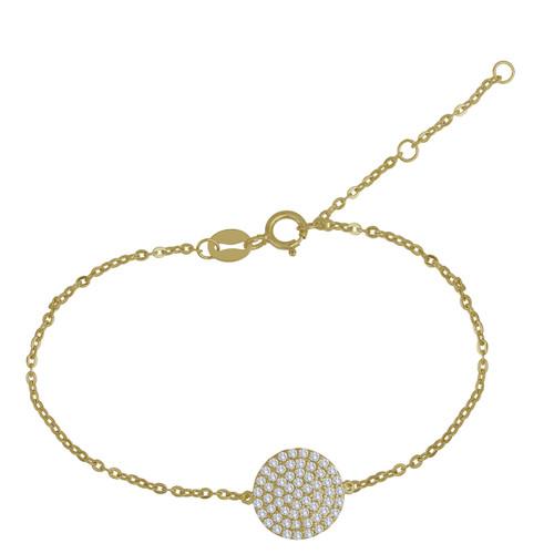 Pave Bracelet 14 Karat Gold vermeille