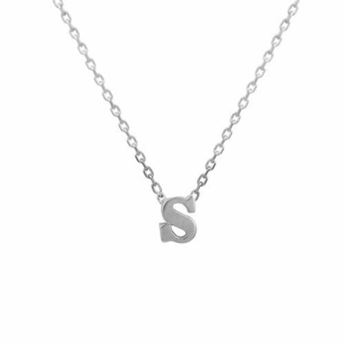 925 Sterling Silver Tiny Initial Necklace, 925 Sterling Silver necklace,  Minimal Necklace, Layering Necklace