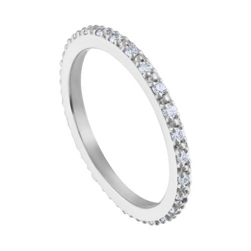0.35 Carat Diamond Wedding Band, 14K White Gold Diamond Wedding Ring, Hand Made Diamond Wedding Band, Diamond Anniversary Ring Hand Made