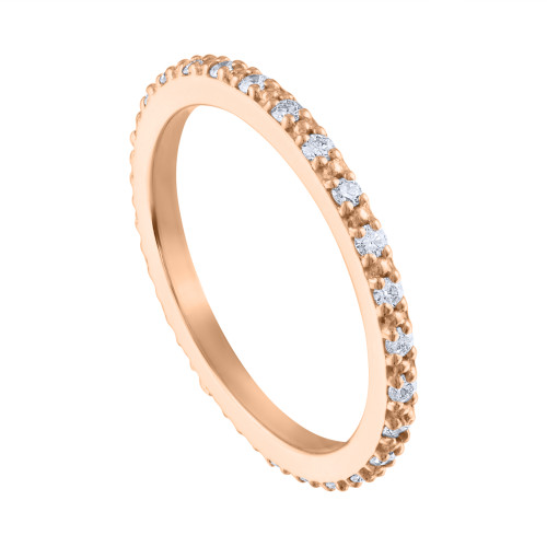 0.35 Carat Diamond Wedding Band, 14K Rose Gold Diamond Weeding Ring, Hand Made Diamond  Wedding Band, Diamond Anniversary Ring, Wedding Ring