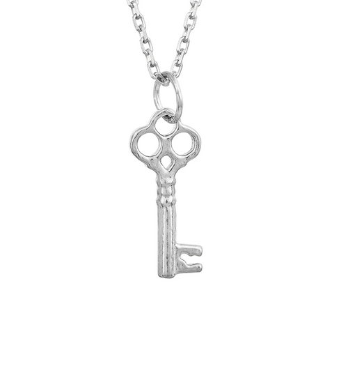 Unique Silver Skeleton Key Necklace!